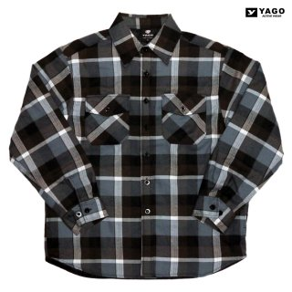 <img class='new_mark_img1' src='https://img.shop-pro.jp/img/new/icons59.gif' style='border:none;display:inline;margin:0px;padding:0px;width:auto;' />YAGO FLANNEL QUILTING JACKET【GRAY×BROWN】