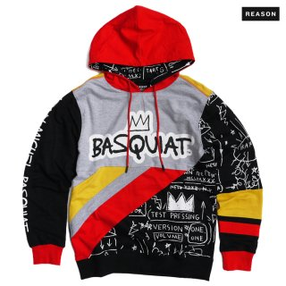 <img class='new_mark_img1' src='https://img.shop-pro.jp/img/new/icons20.gif' style='border:none;display:inline;margin:0px;padding:0px;width:auto;' />【SALE★30%OFF】REASON CLOTHING × BASQUIAT TEAM HOODIE【MULTI COLOR】