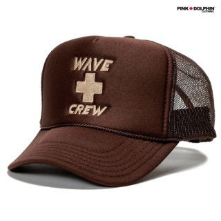 PINK DOLPHIN CLOTHING WAVE CREW MESH CAP【BROWN】