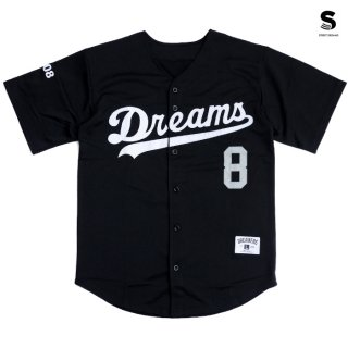 【メール便対応】STREET DREAMS MAJOR LEAGUE JERSEY【BLACK】