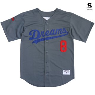 【メール便対応】STREET DREAMS MAJOR LEAGUE JERSEY【GRAY】