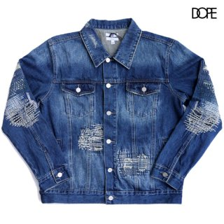 <img class='new_mark_img1' src='https://img.shop-pro.jp/img/new/icons20.gif' style='border:none;display:inline;margin:0px;padding:0px;width:auto;' />【SALE★50%OFF】DOPE BORO DENIM JACKET【WASH BLUE】