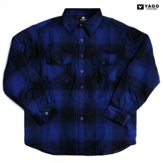 <img class='new_mark_img1' src='https://img.shop-pro.jp/img/new/icons59.gif' style='border:none;display:inline;margin:0px;padding:0px;width:auto;' />YAGO FLANNEL QUILTING JACKET【BLUE×BLACK】