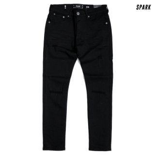 <img class='new_mark_img1' src='https://img.shop-pro.jp/img/new/icons20.gif' style='border:none;display:inline;margin:0px;padding:0px;width:auto;' />【SALE★50%OFF】SPARK DENIM PANTS【BLACK】