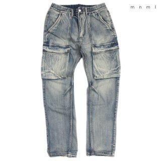 【送料無料】MNML V216 CARGO DENIM PANTS【VINTAGE BLUE】