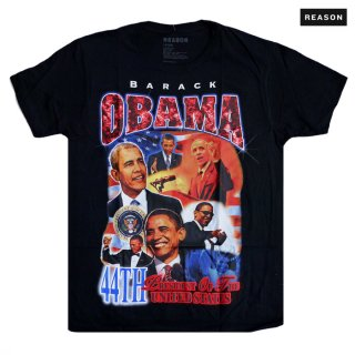 【メール便対応】REASON CLOTHING OBAMA Tシャツ【BLACK】