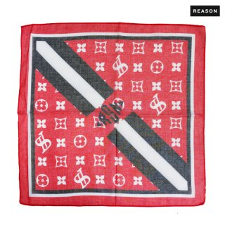 【メール便対応】REASON CLOTHING HIGH CLASS BANDANA【RED】