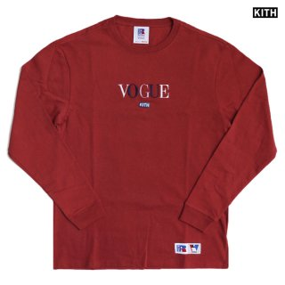 【送料無料】KITH × RUSSELL ATHLETIC × VOGUE L/S SHIRTS -LOS ANGELES-【COWHIDE】