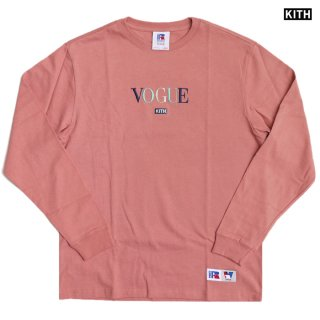 【送料無料】KITH × RUSSELL ATHLETIC × VOGUE L/S SHIRTS -MIAMI-【OLD ROSE】