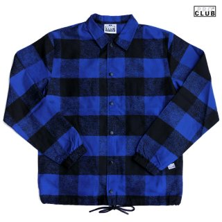 【送料無料】PRO CLUB LUMBERJACK COACH JACKET【BLUE】