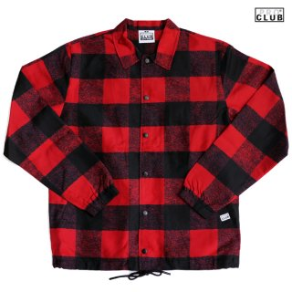 【送料無料】PRO CLUB LUMBERJACK COACH JACKET【RED】