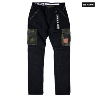 【送料無料】REASON CLOTHING STRIKE CARGO DENIM PANTS【BLACK】