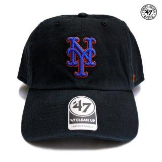 【メール便対応】'47 CLEAN UP CAP NEW YORK METS【BLACK】