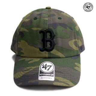 【メール便対応】47 BRAND CLEAN UP CAP BOSTON RED SOX【CAMOUFLAGE】
