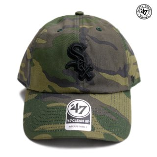 【メール便対応】47 BRAND CLEAN UP CAP WHITE SOX【CAMOUFLAGE】