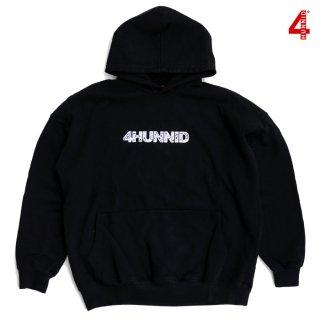 【送料無料】4 HUNNID PAISLEY HOODIE【BLACK】