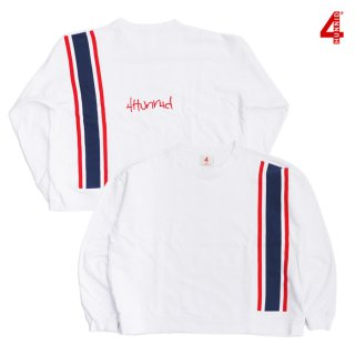 【送料無料】4 HUNNID GHETTO PRINTED CREWNECK【WHITE】