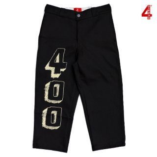 【送料無料】4 HUNNID 400 BLOCK CROPPED PANTS【BLACK】