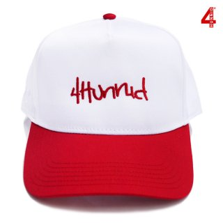 【送料無料】4 HUNNID HIT UP SNAPBACK【WHITE×RED】