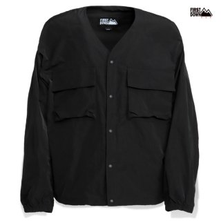 【送料無料】FIRST DOWN MEMORY CARDIGAN【BLACK】