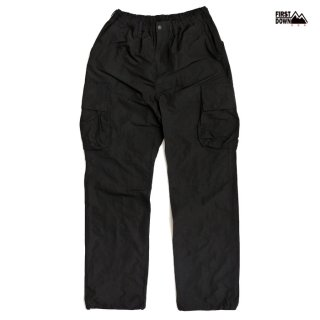 【送料無料】FIRST DOWN MEMORY CARGO PANTS【BLACK】