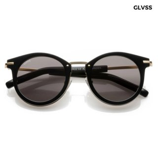 【送料無料】GLVSS SUNGLASSES -ROUNDER-【BLACK】