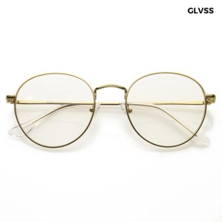 【送料無料】GLVSS SUNGLASSES -THE GUNNA-【GOLD×CLEAR】