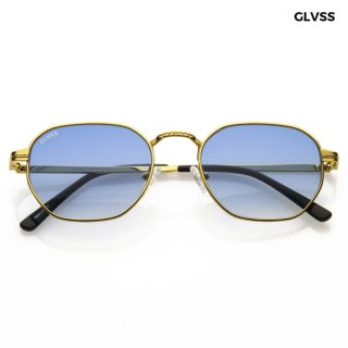 【送料無料】GLVSS SUNGLASSES -THE FLASH-【GOLD×BLUE】