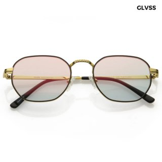 【送料無料】GLVSS SUNGLASSES -THE FLASH-【GOLD×MIRROR】