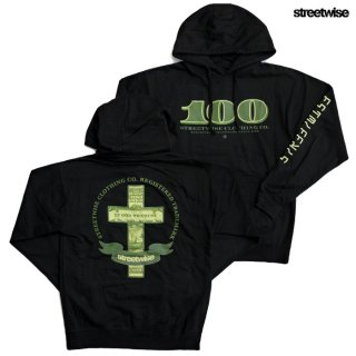 【送料無料】STREETWISE PAY HOMAGE PULLOVER HOODED SWEAT【BLACK】