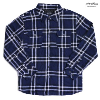 【送料無料】SHAKA WEAR PLAID JACKET【NAVY】