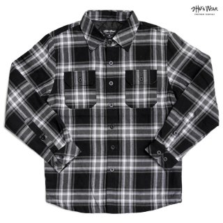 【送料無料】SHAKA WEAR PLAID JACKET【BLACK】