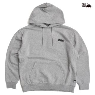 【送料無料】FIRST DOWN LOGO HOODED SWEAT【GRAY】