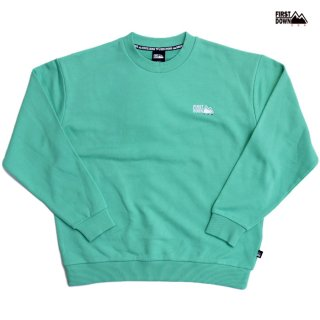 【送料無料】FIRST DOWN LOGO CREW SWEAT【MINT】