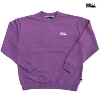 【送料無料】FIRST DOWN LOGO CREW SWEAT【PURPLE】