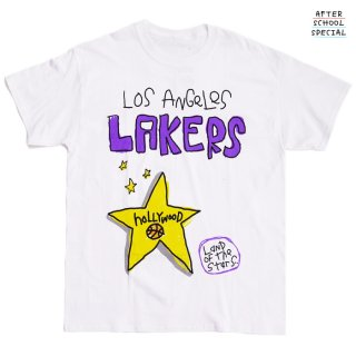 【送料無料】AFTER SCHOOL SPRECIAL LOS ANGELES LAKERS LAND OF THE STARS Tシャツ【WHITE】