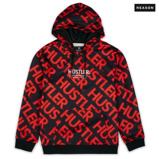 【送料無料】REASON CLOTHING × HUSTLER DISTRICT HOODIE【BLACK】
