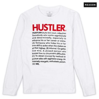 【送料無料】REASON CLOTHING × HUSTLER DEFINE L/S Tシャツ【WHITE】