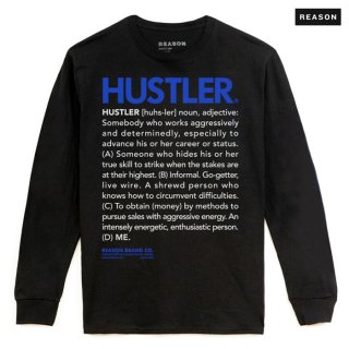 【送料無料】REASON CLOTHING × HUSTLER DEFINE L/S Tシャツ【BLACK】