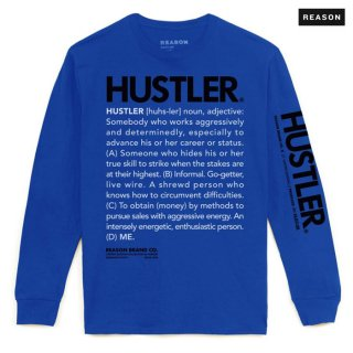 【送料無料】REASON CLOTHING × HUSTLER DEFINE L/S Tシャツ【BLUE】
