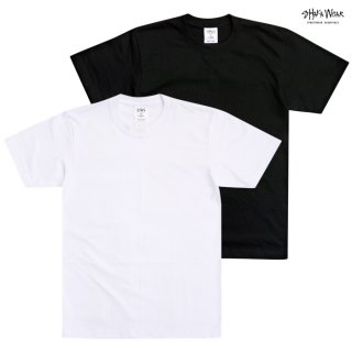 【メール便対応】SHAKA WEAR 7.5 OZ MAX HEAVYWEIGHT SHORT SLEEVE Tシャツ【BLACK/WHITE】