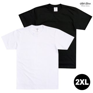 【メール便対応】【2XL】SHAKA WEAR 7.5 OZ MAX HEAVYWEIGHT SHORT SLEEVE Tシャツ【BLACK/WHITE】