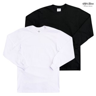 【メール便対応】SHAKA WEAR 7.5 OZ MAX HEAVYWEIGHT LONG SLEEVE Tシャツ【BLACK/WHITE】