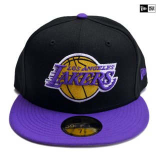【送料無料】NEW ERA CAP LOSANGELES LAKERS【BLACK×PURPLE】
