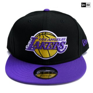 【送料無料】NEW ERA SNAPBACK CAP LOS ANGELES LAKERS【BLACK×PURPLE】