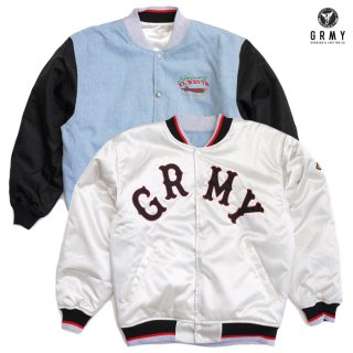 【送料無料】GRIMEY THE LOOT REVERSIBLE SATIN JACKET【WHITE】