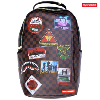 【送料無料】SPRAYGROUND TRAVEL PATCHES BACKPACK【BROWN】