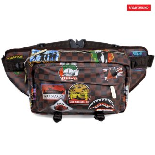 【送料無料】SPRAYGROUND TRAVEL PATCHES CROSS BODY BAG【BROWN】