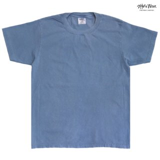 【メール便対応】SHAKA WEAR 7.5 OZ MAX HEAVYWEIGHT GARMENT DYE Tシャツ【WASHED DENIM】