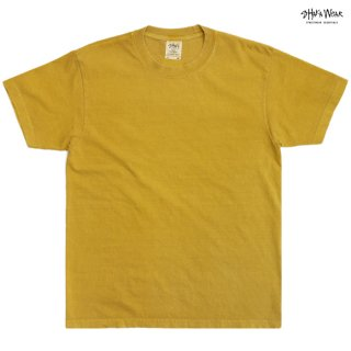 【メール便対応】SHAKA WEAR 7.5 OZ MAX HEAVYWEIGHT GARMENT DYE Tシャツ【MUSTARD】